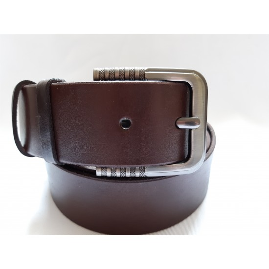 Ремень мужской кожаный коричневый 4.5 см ширина длина 130 см