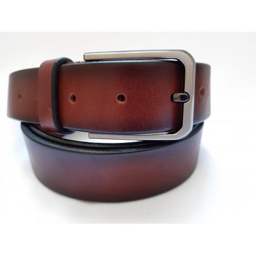 Ремень мужской кожаный светло коричневый 3.5 см ширина длина 125 см Итальянская коллекция JK