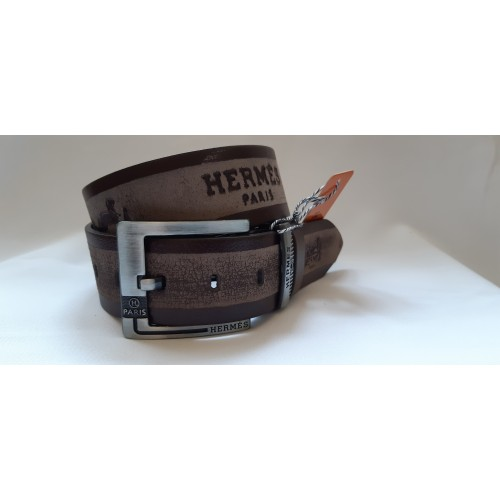 Ремень мужской кожаный HERMES 4.5 см ширина длина 130 см
