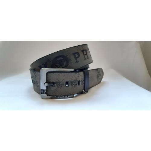 Ремень мужской кожаный PHILIP PPLEIN 4.5 см ширина длина 130 см