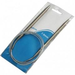Спицы круговые металлические на тросике 100 см в ассортименте поштучно от 2 до 10 мм