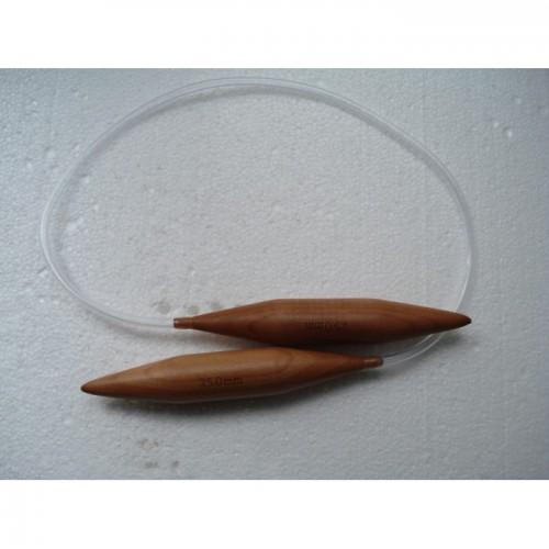 Спицы бамбуковые для вязания на тросике 25 мм