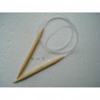 Спицы бамбуковые для вязания на тросике 9 мм