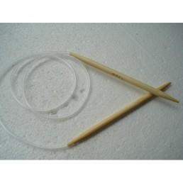 Спицы бамбуковые для вязания на тросике 7 мм