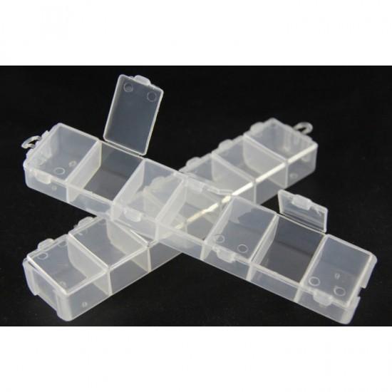 Емкость для бисера 14 делений белый