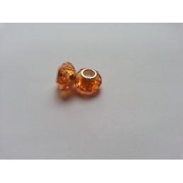 Металлическая подвеска шарм Пандора Ограненное Оранжевый Мурано
