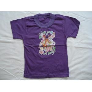 Цветные футболки с наклейкой в ассортименте
