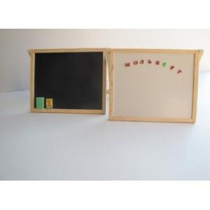 Доска для рисования двухсторонняя раскладная магнитная
