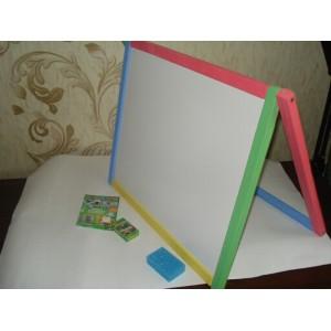 Доска для рисования двухсторонняя магнитная крашеная