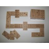 Домино деревянное детское ольха