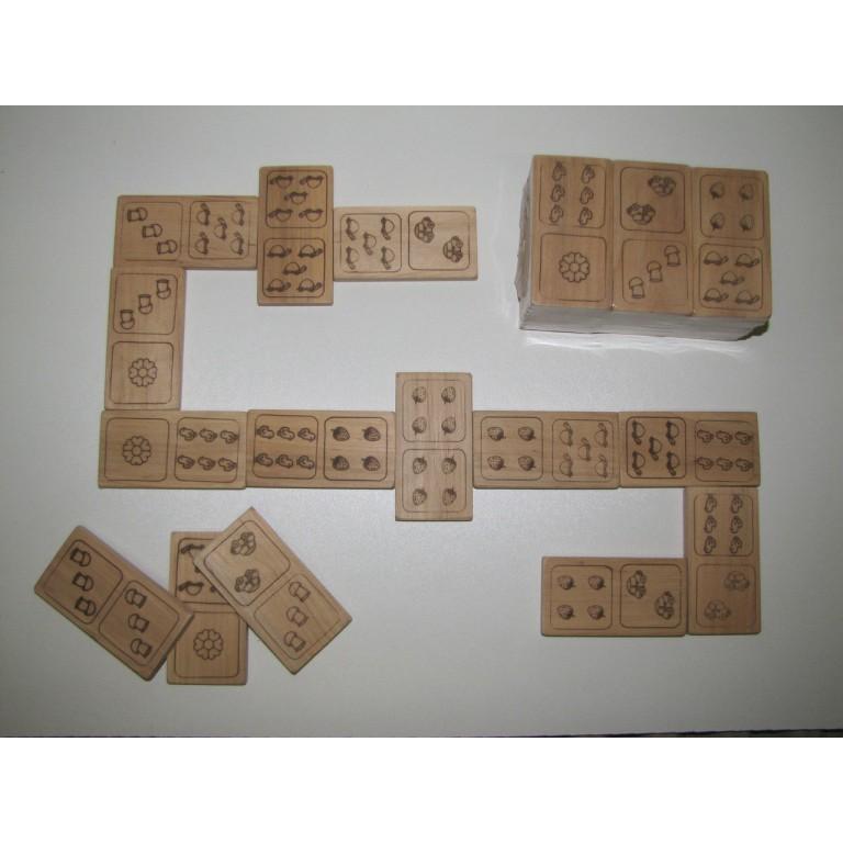 Домино для детей деревянное