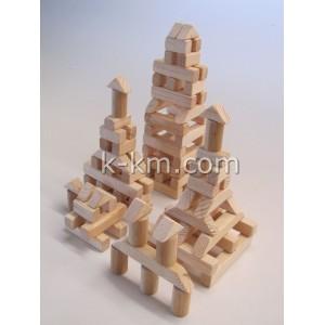 Деревянный городок на 100 элементов