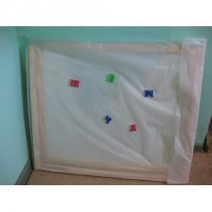 Доска для рисования двухсторонняя раскладная с магнитом
