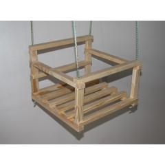 Детские подвесные деревянные качели хорошего качества