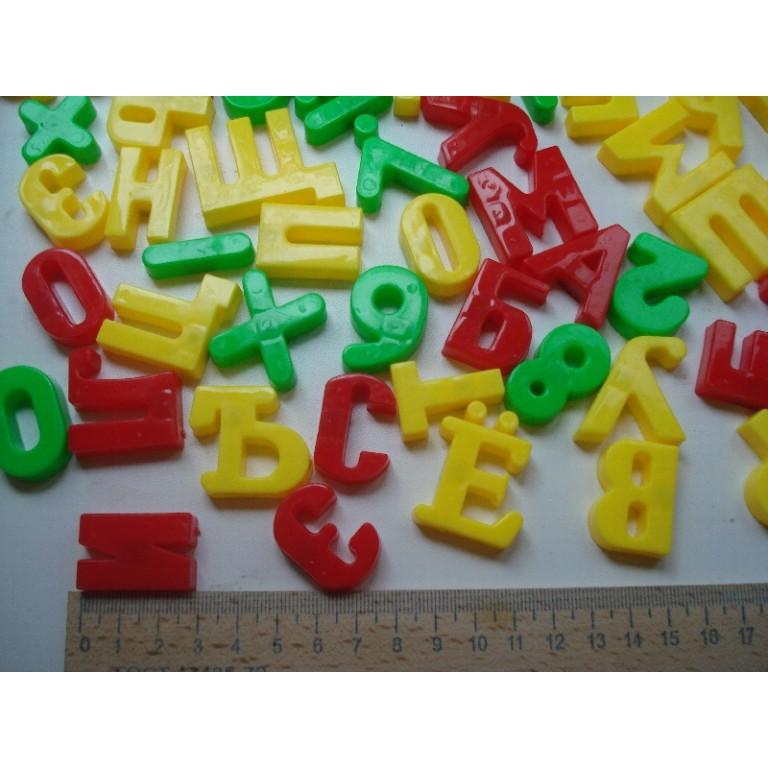Магнитные цифры и буквы на русском языке