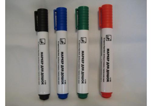 Комплект маркеров для досок черный синий зеленый красный
