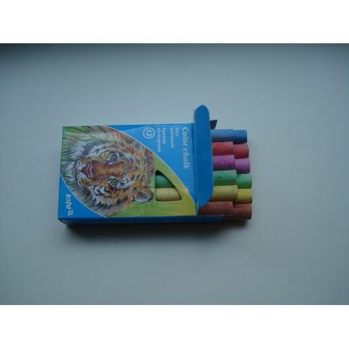 Мелки разноцветные для мольберта Львенок 12 цветов