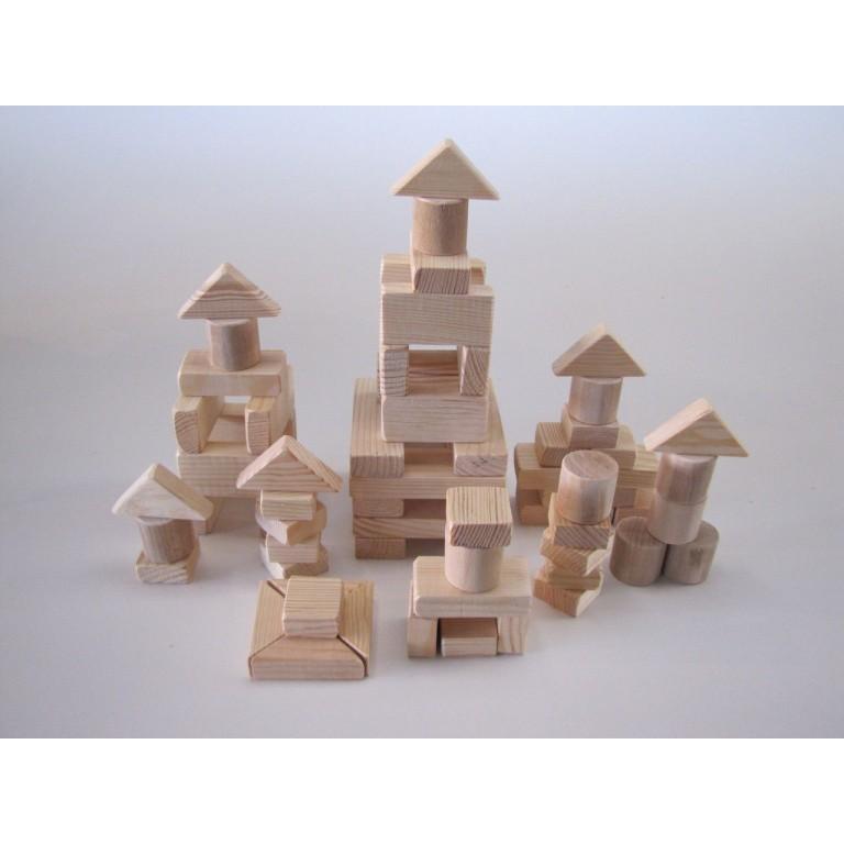 Деревянный городок на 70 элементов